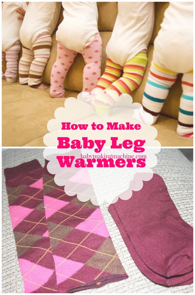 how to make baby leg warmers
