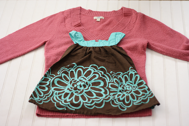Easy sweater-dress tutorial. Make a baby or toddler dress out of an old sweater.