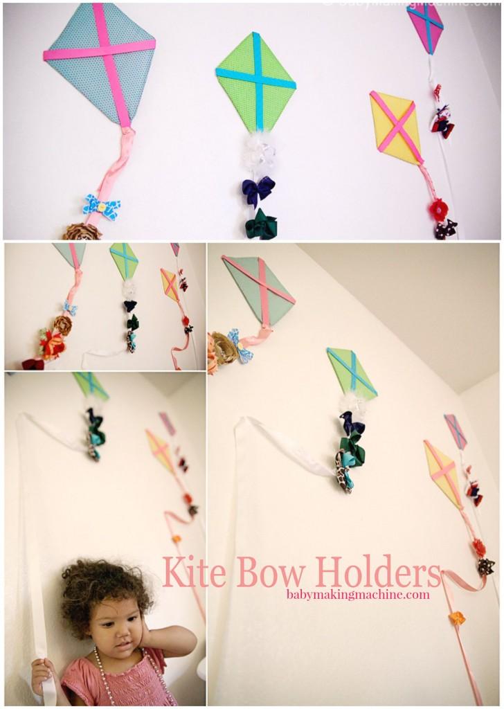 DIY Kite hair bow holder