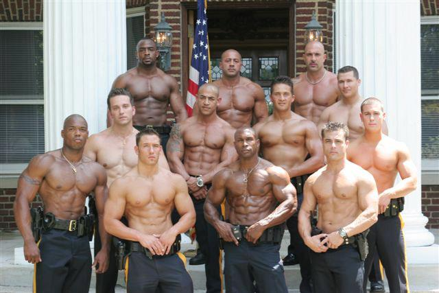 Good looking male cops