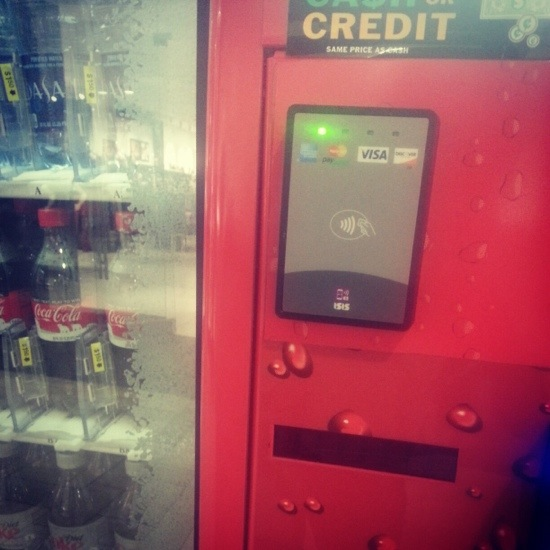 using your cell phone to purchase a coke from a vending machine is an exle of