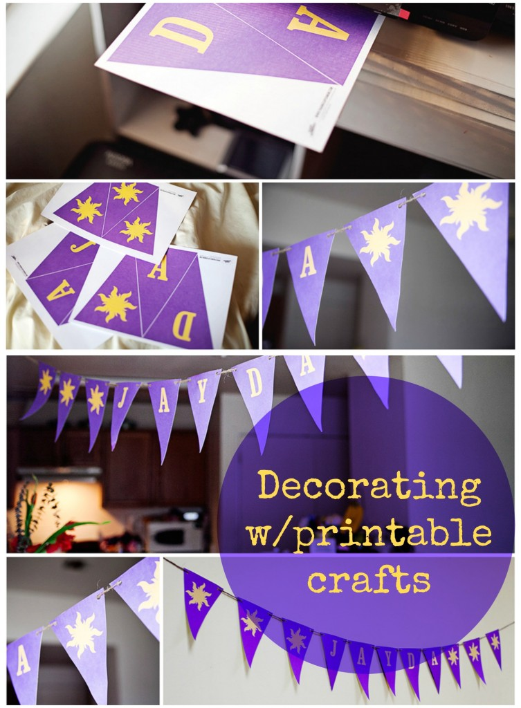 Decorating with printable crafts