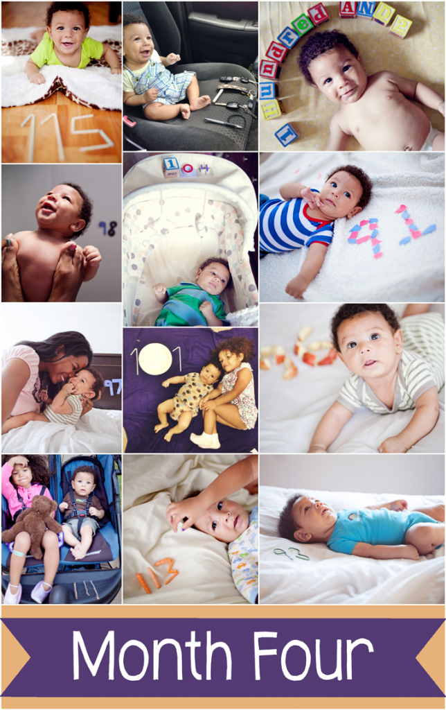 What a great idea! Take a photo of your baby every day next to the number of days old they are. You could even do this once a week or month instead. Love the idea! Number 29 is especially cute.