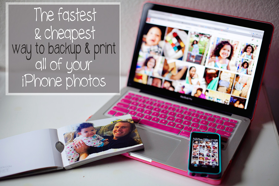 """The fastest and cheapest way to backup and print all of your smart phon/ cell phone photos. So easy it's crazy! Now I can finally stop getting that dreaded """"not enough space"""" warning when I try to take a photo."""