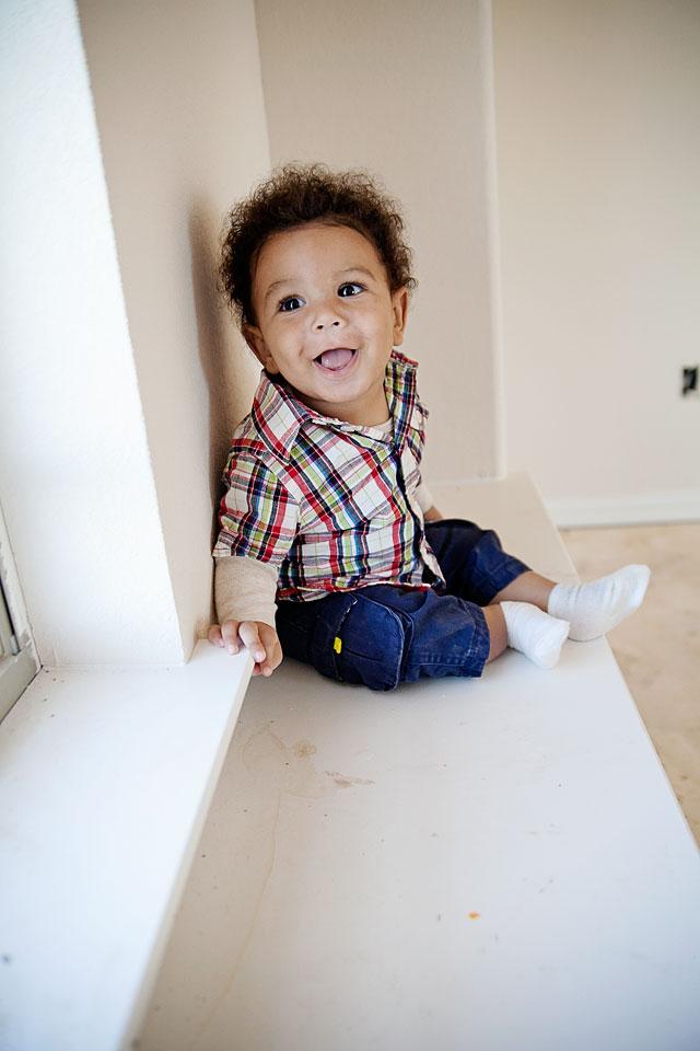 adorable biracial baby boy