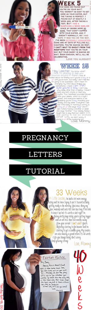 Fun pregnancy letters! How awesome would this be for a baby book? This is a free detailed tutorial with step-by-step instructions to recreate on your own. No studio or photographer needed.