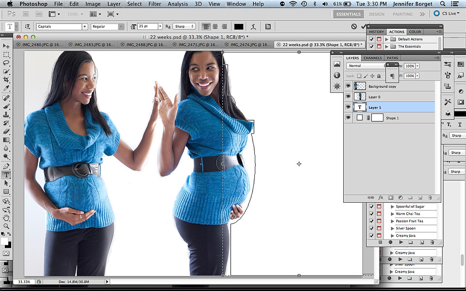 pregnancy photoshop edit tutorial
