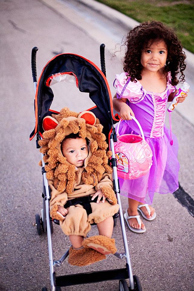 biracial kids halloween