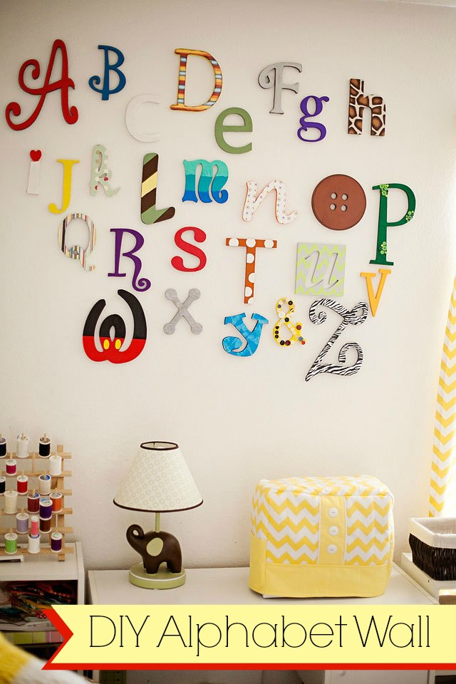 DIY Alphabet wall tutorial