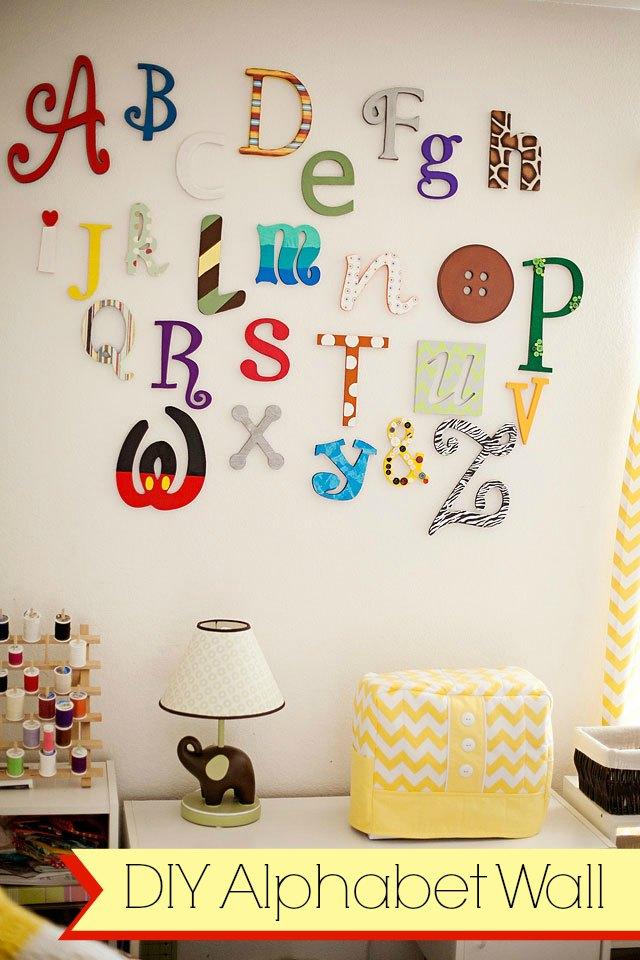 DIY Alphabet wall tutorial