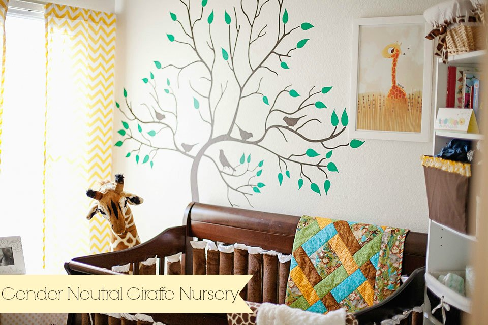 Gender neutral giraffe nursery