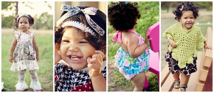 biracial baby girl