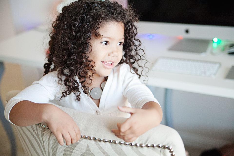 biracial little girl