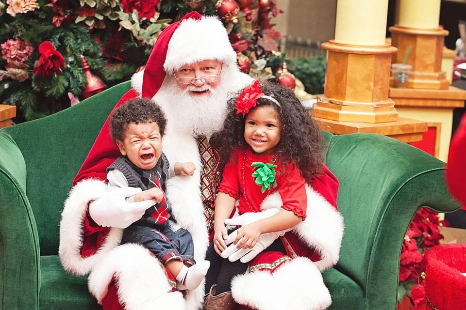 sad with santa