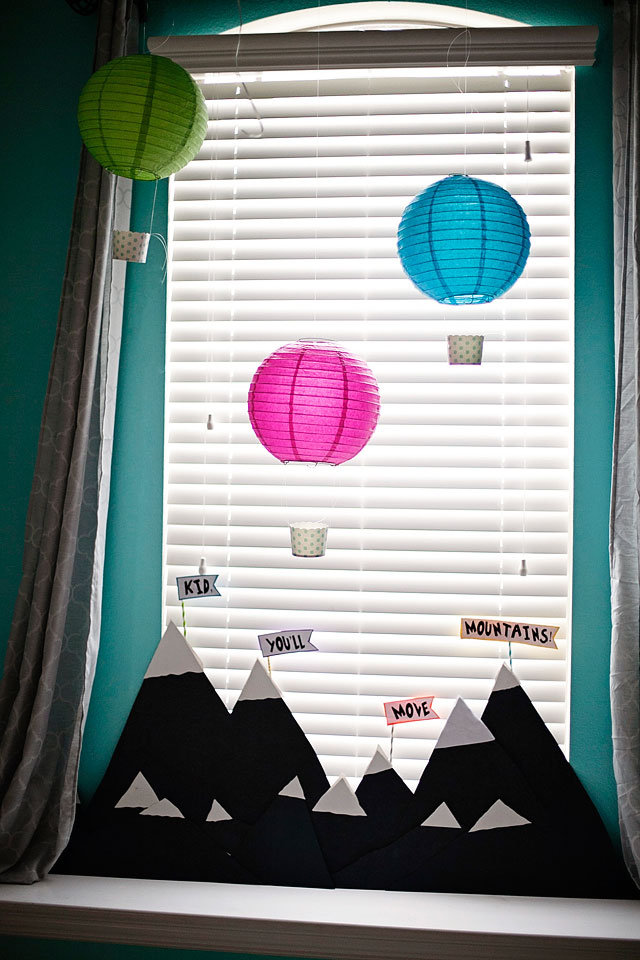 Dr. Seuss Party: oh the places you'll go party theme; hot air balloon lanterns