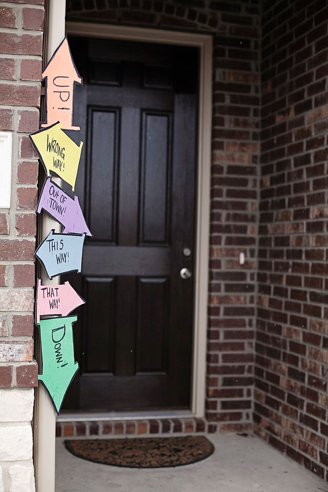 Dr. Seuss Party: oh the places you'll go party theme, places you'll go welcome sign