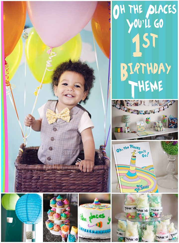 Dr Seuss Party: Oh the places you'll go party! First birthday