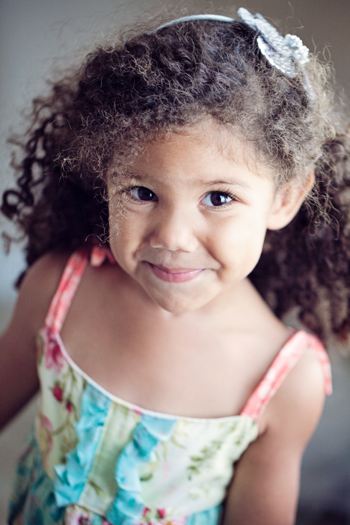 Naturally curly hair toddler girl