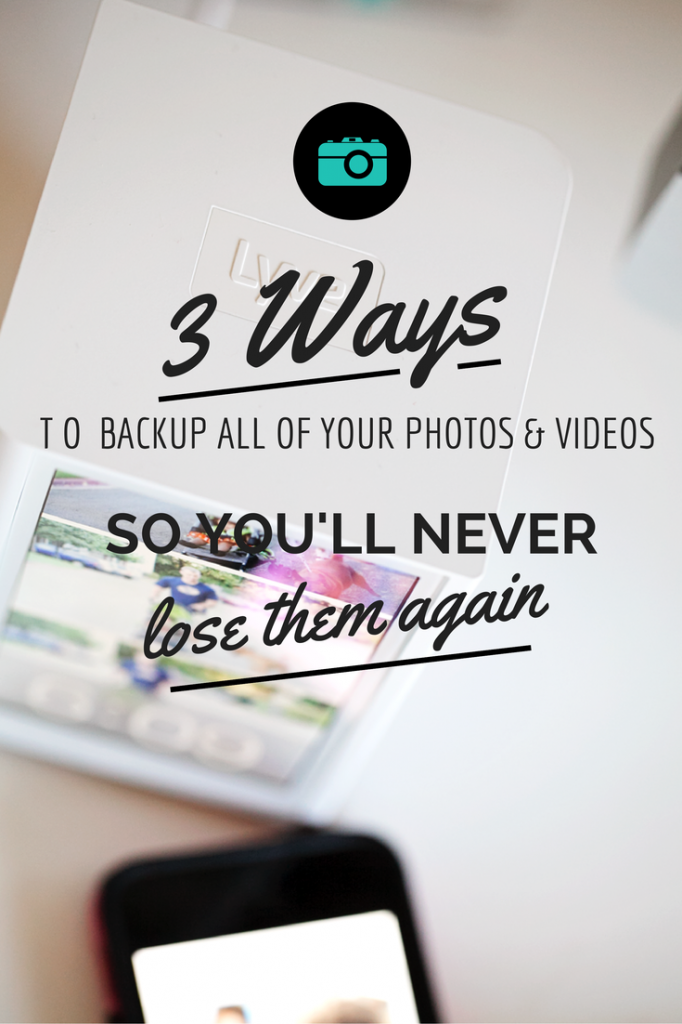 Never lose your precious photos again! Here are three ways you need to be backing up your photos and videos. The easiest and best ways to save your memories.