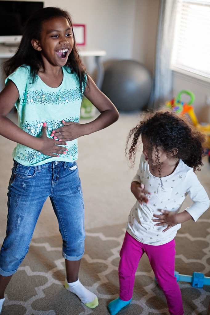 Fun family games: Sometimes aunts can feel more like sisters.