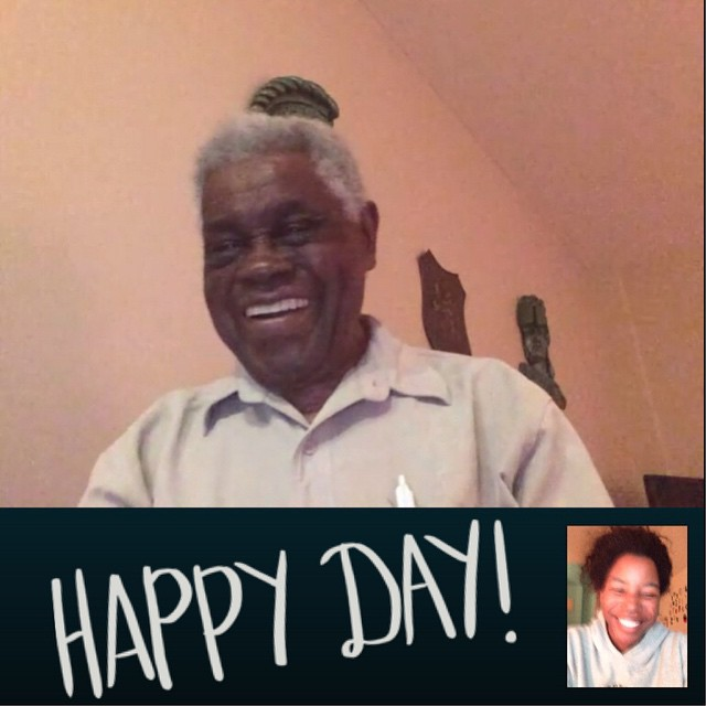 Skyping with my 96-year-old great-grandpa