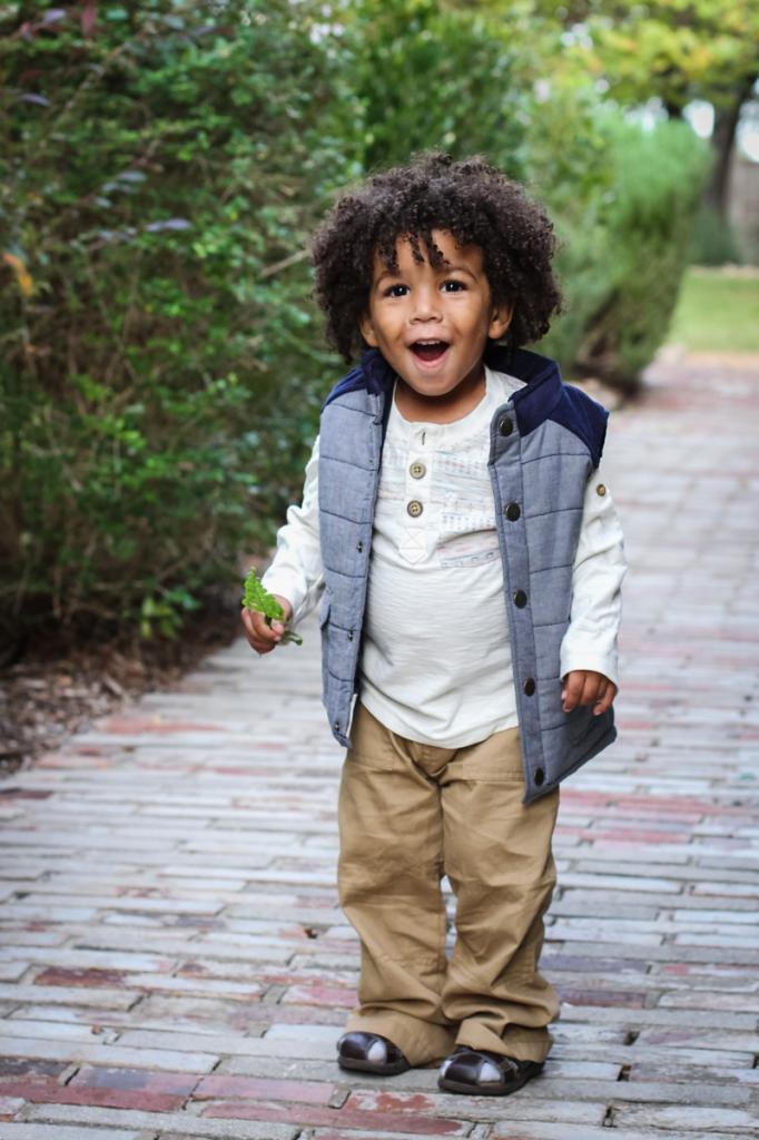 adventurous adorable biracial boy