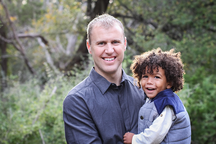 Showing a white dad with a biracial son is totally normal too.