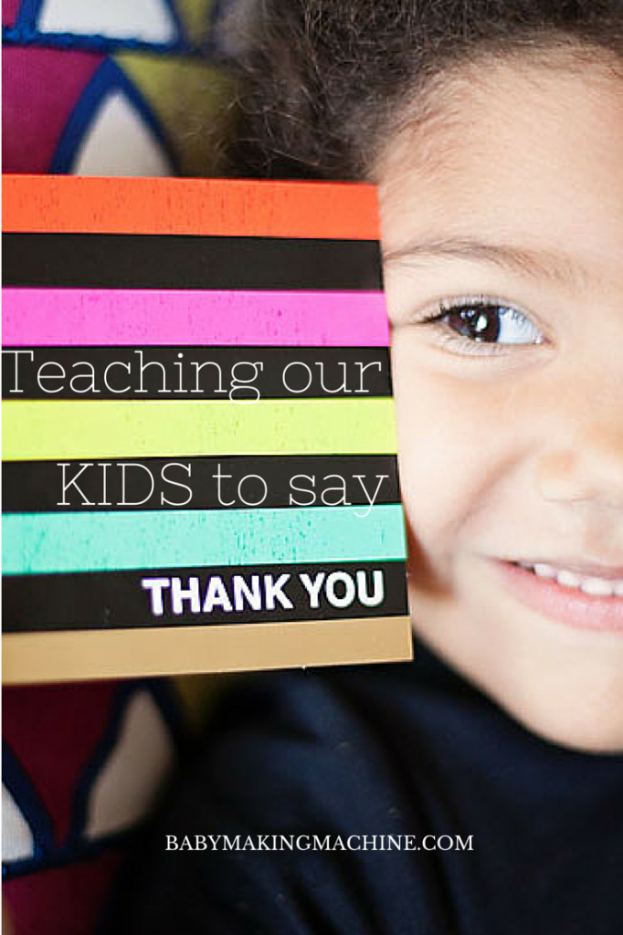 Fun ideas to introduce our children to different ways to say thank you.