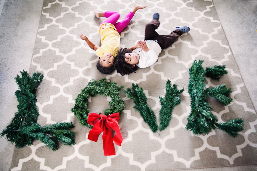 Christmas Cleanup: Biracial brother and sister love