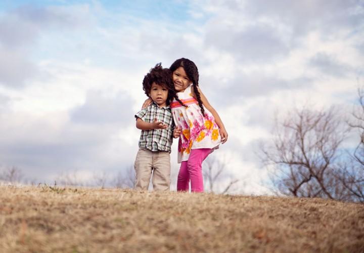 sibling love cute biracial kids interracial family