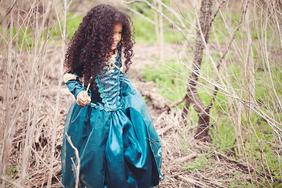 Brown Princess Series: My Little Princess- A cute and creative mother-daughter photo series featuring a biracial girl dressed up as Disney Princesses.