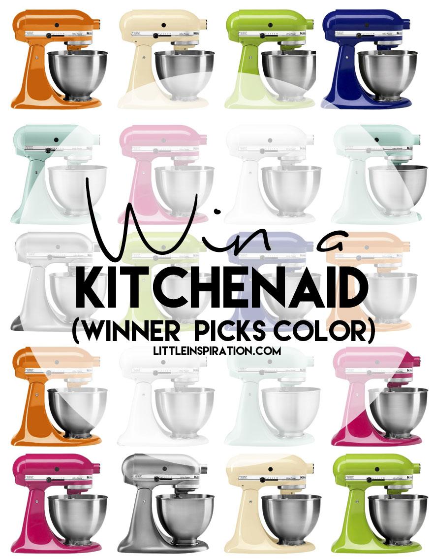 welcome spring! kitchenaid mixer giveaway - cherish365