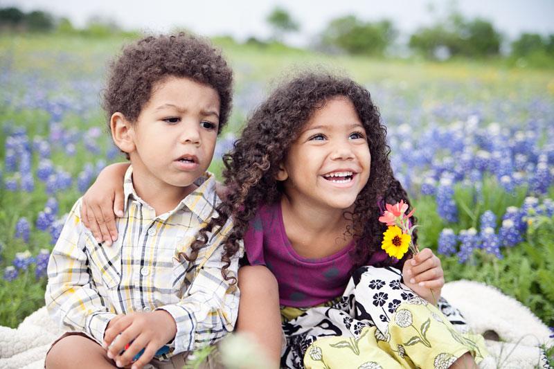 biracial siblings of an interracial family