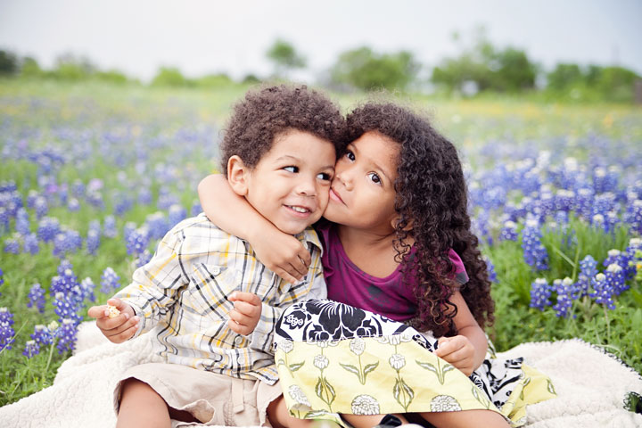 biracial siblings of an interracial family