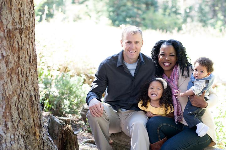 Interracial family photos