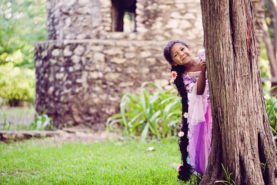 Biracial Disney Princess Rapunzel Dressup