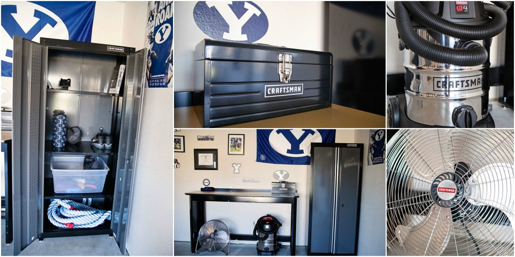 Garage man cave football themed stunning
