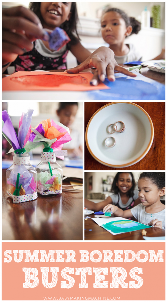Super simple summer boredom busters for kids.