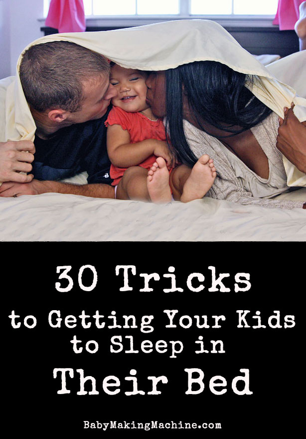 Tried and true practices to getting your kids to sleep in their own bed. Here are some of the answers to help get your kids to sleep in their own rooms.