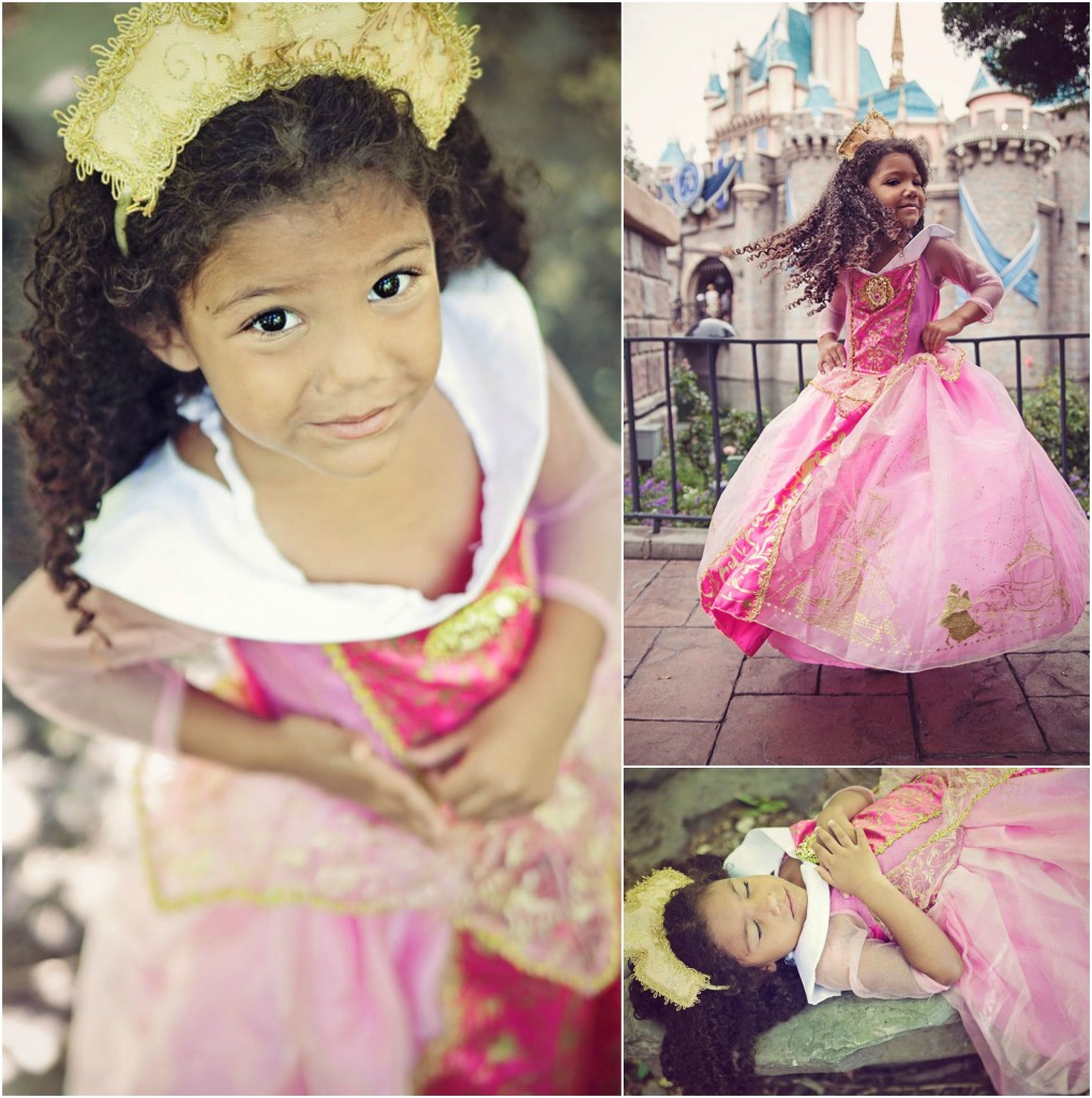 Biracial Disney Princess Series: My Little Princess- A cute and creative mother-daughter photo series featuring a biracial girl dressed up as Disney Princesses.