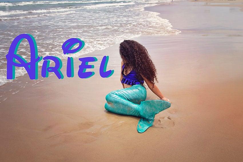 Biracial Disney Princess Series: My Little Princess- A cute and creative mother-daughter photo series featuring a biracial girl dressed up as Disney Princesses. Part 8: Ariel