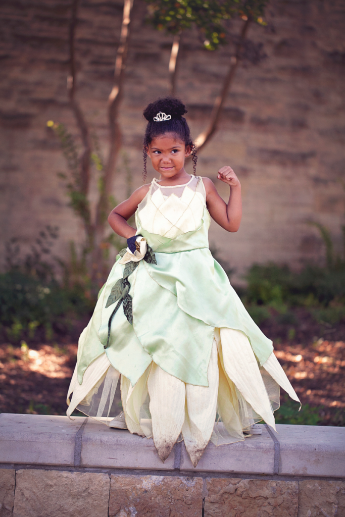 Biracial Disney Princess Series: My Little Princess- A cute and creative mother-daughter photo series featuring a biracial girl dressed up as Disney Princesses. Part 7: Tiana