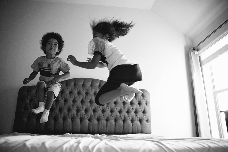 Image result for kids jumping on the bed