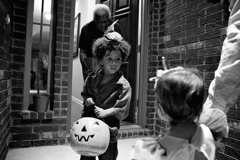 halloween with kids trick or treating