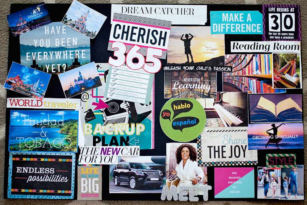 Vision Boards: How to host a vision board party and a tutorial for how to make a vision board to help all of your dreams come true! What a great way to ring in a 30th birthday!