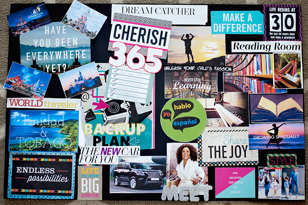 Start your 30 39 s the right way how to host a vision board for Home design vision board