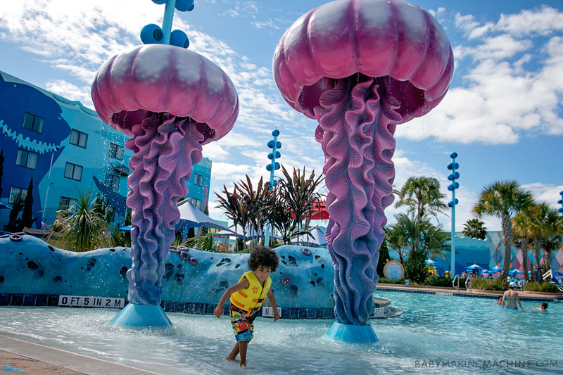 The Disney Jr. pool parties are definitely a highlight for doing Disney with preschoolers.