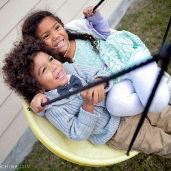 Biracial Siblings Swinging What would you do to keep your kids safe?