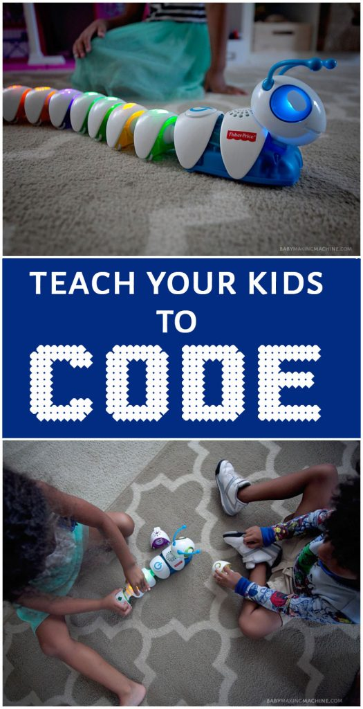 Teach programming and coding to young kids using the Fisher-Price code-a-pillar