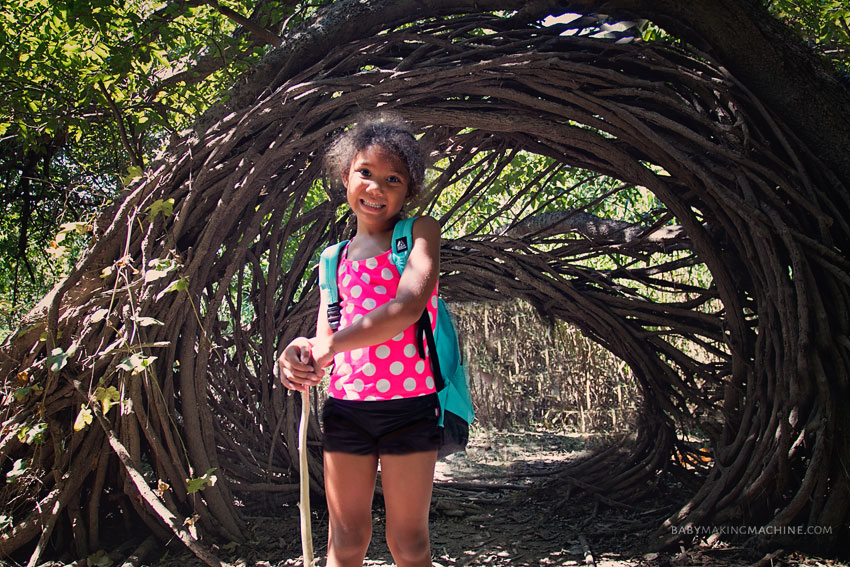 Nature hike with kids Austin.